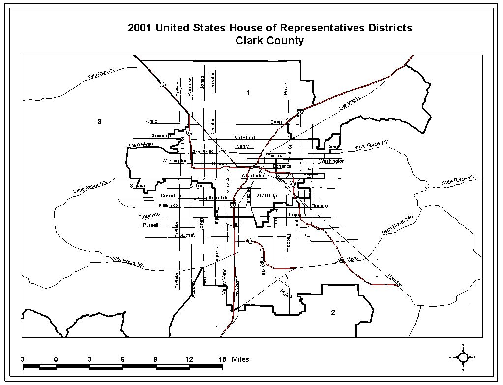 Map Of Congressional Districts In Clark County