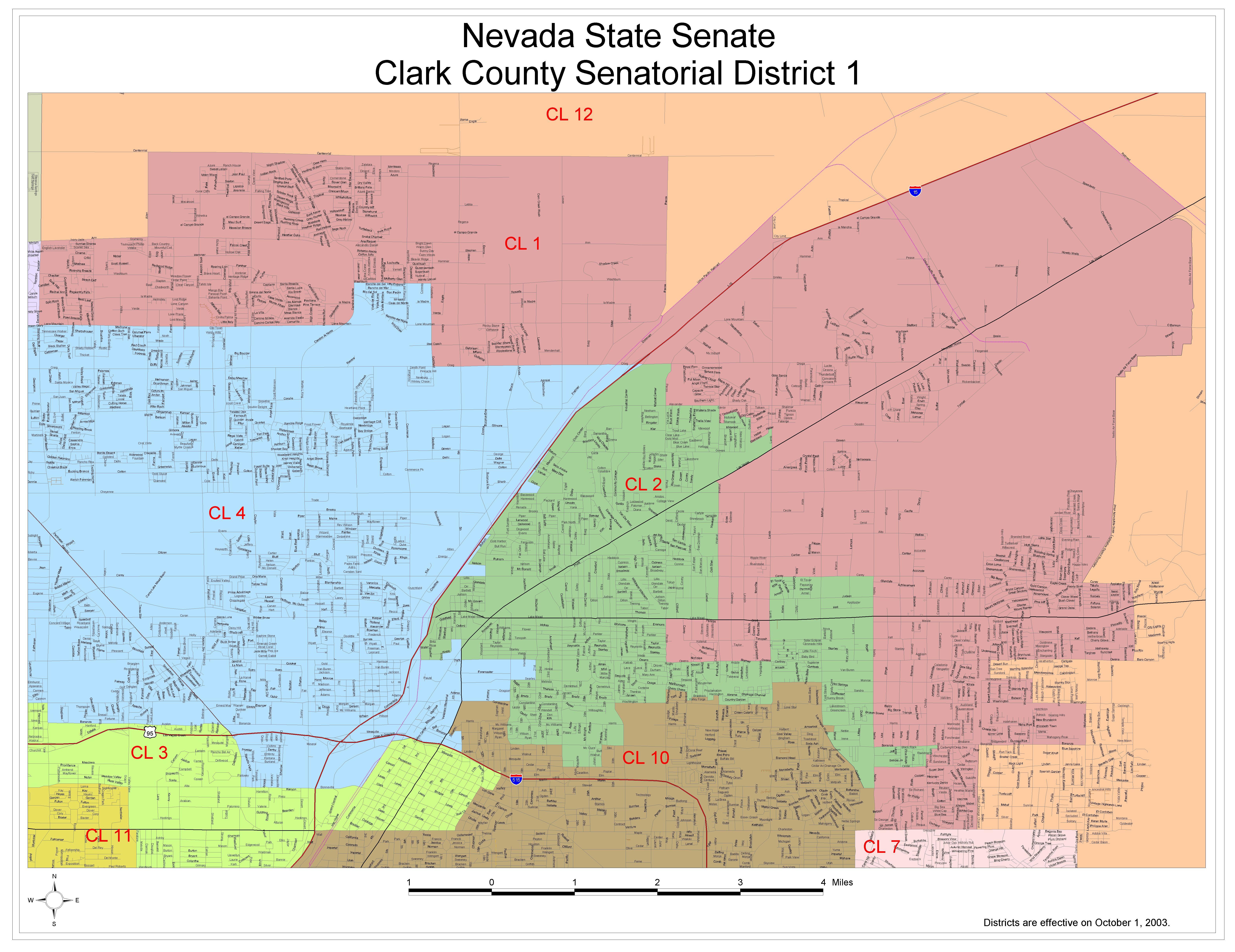 Senatorial District 1 Large Printable