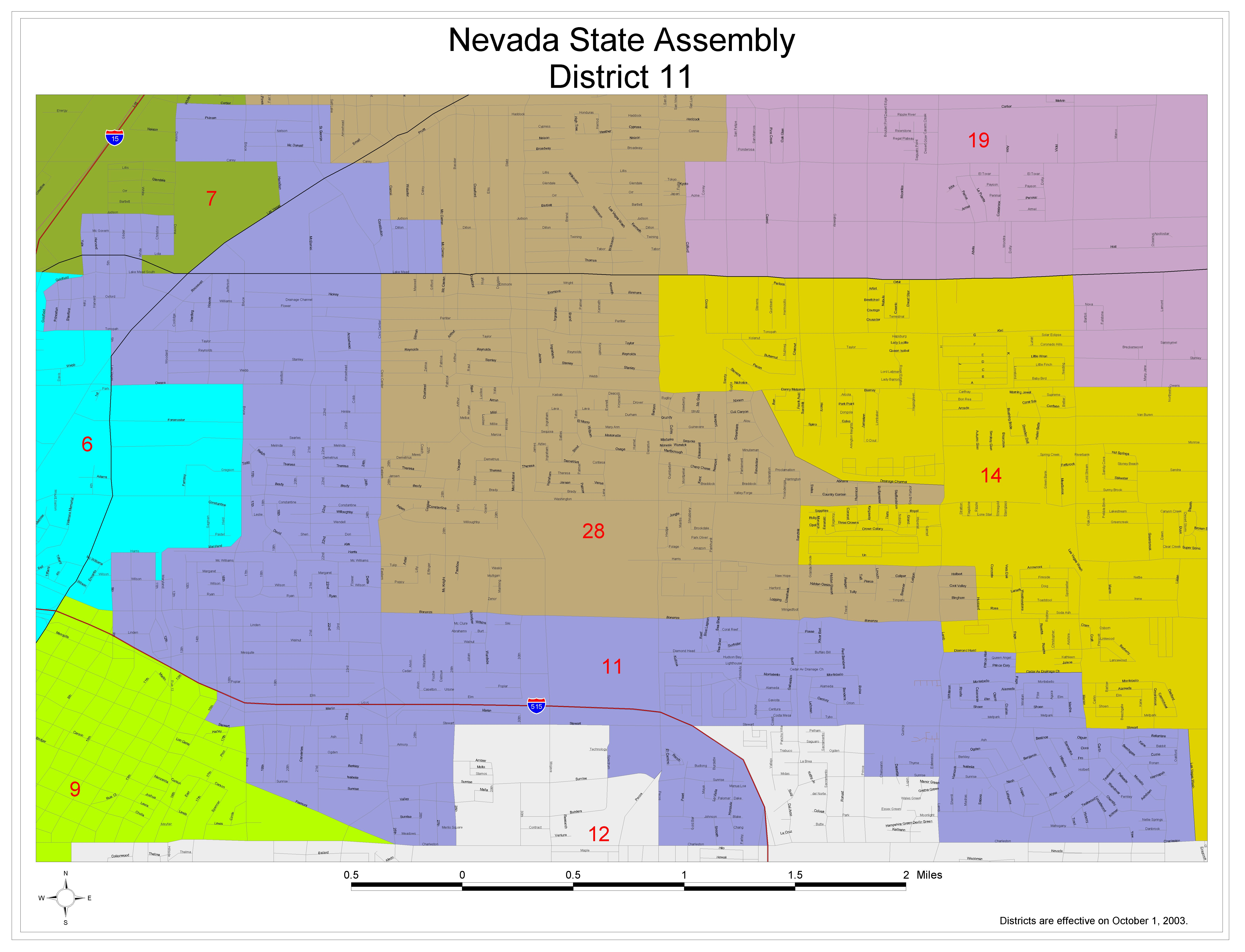 Assembly District 11 Large Printable